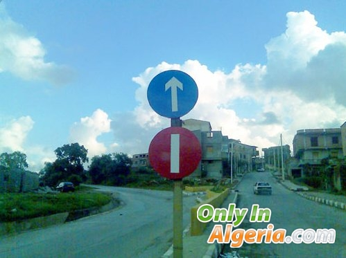 nouveaux panneaux de signalisation only in algeria. Black Bedroom Furniture Sets. Home Design Ideas